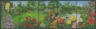 AUS SG1960a Gardens strip of 5