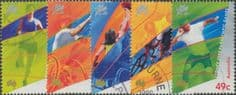 AUS SG1990-4 Paralympic Games 2000, Sydney set of 5 in singles