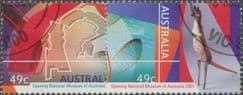 AUS SG2075-6 Opening of the National Museum, Canberra set of 2 singles