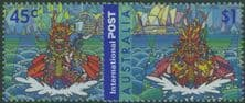AUS SG2118-9 Joint Issue with Hong Kong: Dragon Boat Racing set of 2
