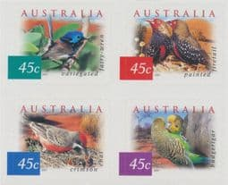 Australian Stamps 2001 SG2130-3 Fauna and Flora (4th series): Desert Birds s-a block of 4 from booklet (exSB145/6)