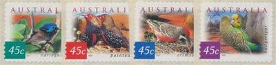 AUS SG2130-3 Fauna and Flora (4th series): Desert Birds self-ad perf 11½ set of 4 from roll