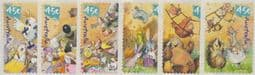 Australian Stamps 2001 SG2151-6 National Stamp Collecting Month: Wild Babies self-adhesive set of 6 from roll