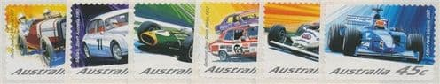 AUS SG2181-6 Centenary of Motor Racing in Australia & New Zealand s-a set of 6 from roll
