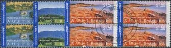 AUS SG2195-7 International Stamps: Views of Australia (3rd series) set of 3 blocks of 4