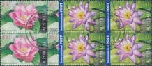 AUS SG2213-4 Australia Thailand Joint Issue: 50th Anniv of Diplomatic Relations set of 2 block of 4