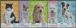 AUS SG2439-43 Cats & Dogs set of 5