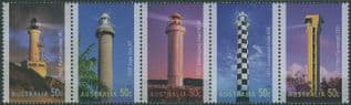 AUS SG2628a Lighthouses of the 20th Century strip of 5