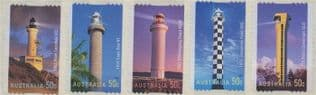 AUS SG2633-7 Lighthouses of the 20th Century self-adhesives set of 5 from roll