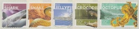 AUS SG2710-4 Stamp Collecting Month 2006: Dangerous Australians self-adhesive set of 5 from roll