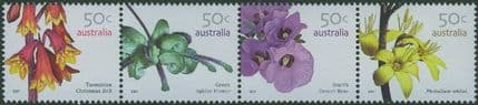 AUS SG2759a Australian Wildflowers (3rd series) strip of 4
