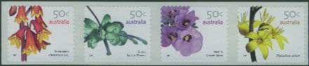 AUS SG2763a Australian Wildflowers (3rd series) self-adhesive SEP strip