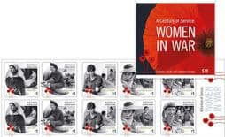 Australian Stamps SG4801a A Century of Service: Women in War self-adhesive booklet (SB583) pane