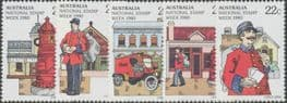 AUS SG752-6 Stamp Week singles set of 5 singles