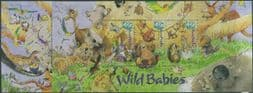Australian Stamps SGMS2150 National Stamp Collecting Month: Wild Babies miniature sheets