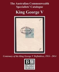 Australian Commonwealth Specialists Catalogue (Brusden White) King George V 2014