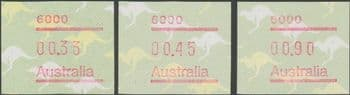 Australian Framas: Kangaroo Button Set 33c, 45c, 90c: Post Code 6000 Perth