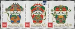 CHI SG929-31 Chinese New Year (Year of the Rat) set of 3