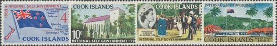Cook Islands SG175-8 Internal Self-Government set of 4