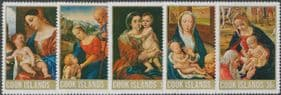 Cook Islands SG283-7 Christmas 1968, Paintings set of 5