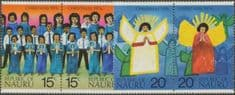 Nauru SG155a-7a Christmas 1976 set of 4 in horizontal pairs