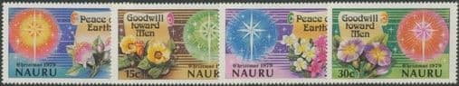 Nauru SG216-9 Christmas 1979 set of 4