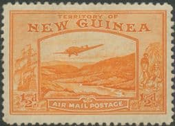 New Guinea SG212 ½d. Bulolo Goldfields, orange inscr 'AIRMAIL POSTAGE' (GNMG/43)
