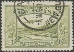 New Guinea SG221 1s. Bulolo Goldfields, pale blue-green inscr 'AIRMAIL POSTAGE' (GNMG/37)