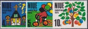 Niue SG193-5 Christmas 1975 set of 3