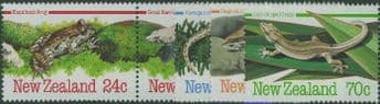 NZ SG1340a-4 Amphibians and Reptiles set of 5 including pair