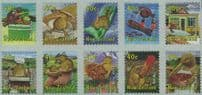"NZ SG2318b New Zealand Life (2nd series) block of 10 from FDC ""Jumbo Roll"" production"