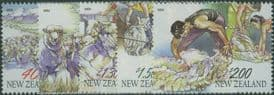 NZ SG2566-70 Chinese New Year (Year of the Sheep) Sheep Farming set of 5