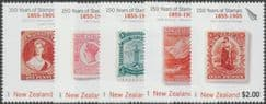 NZ SG2771-5 150 Years of New Zealand Stamps (1st issue) set of 5