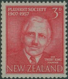 New Zealand Stamps SG760 3d Bright Carmine-Red 50th Anniversary of Plunket Society