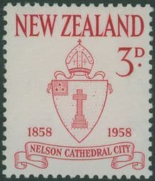New Zealand Stamps SG767 3d Carmine Centenary of City of Nelson