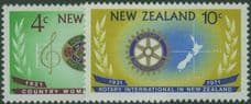 NZ SG948-9 50th Anniv of Country Women's Institutes and Rotary International in NZ set of 2