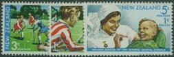 New Zealand Stamps SG960-2 Hockey and Dental Service health set of 3