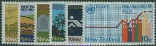 NZ SG997-1002 Commemorations set of 6