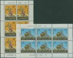 New Zealand Stamps SGMS869 Rugby Football health miniature sheets set of 2