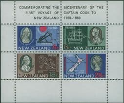 New Zealand Stamps SGMS910 Bicentenary of Captain Cook's Landing in New Zealand miniature sheet