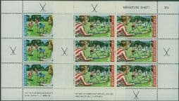New Zealand Stamps SGMS963 Hockey health miniature sheets set of 2