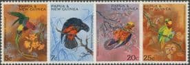 Papua New Guinea SG121-4 Christmas - Territory Parrots set of 4