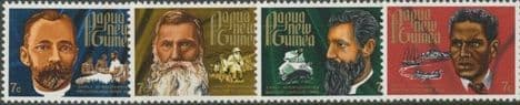 Papua New Guinea SG227-30 Christmas (Missionaries) set of 4