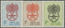 Papua New Guinea SG33-5 Malaria Eradication set of 3