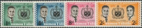 Samoa SG249-52 First Anniversary of Independence set of 4