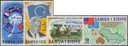 Samoa SG382-5 25th Anniversary of South Pacific Commission set of 4