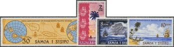Samoa SG386-9 250th Anniversary of sighting of Western Samoa by Jacob Roggeveen set of 4