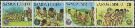 Samoa SG405-8 Boy Scout Movement set of 4