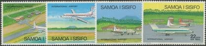 Samoa SG409-12 Aircraft at Faleolo Airport air mail set of 4
