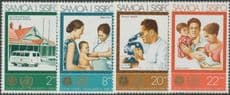 Samoa SG413-6 25th Anniversary of World Health Organization set of 4